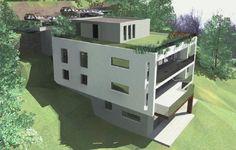 Monte Carasso: 3,5 Zimmer Neubau Attika Wohnung an schöner Aussicht