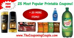 ***TOP 25 MOST POPULAR PRINTABLE COUPONS*** Check out this DETAILED LIST of the Hottest Printable Coupons available! These may not last long so PRINT Them while you can! Click the Picture below to get the Detailed List of MOBILE FRIENDLY DIRECT LINKS to all 25 coupons ► http://www.thecouponingcouple.com/25-most-popular-printable-coupons/  Help us out and use the SHARE button below the Picture to SHARE this post with your Family and Friends!  #Coupons #Couponing #Coupo