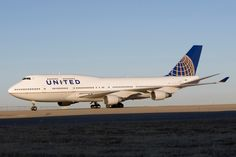 The new United Airlines  B747