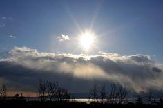The cloud-shower down on Izu-Ohshima