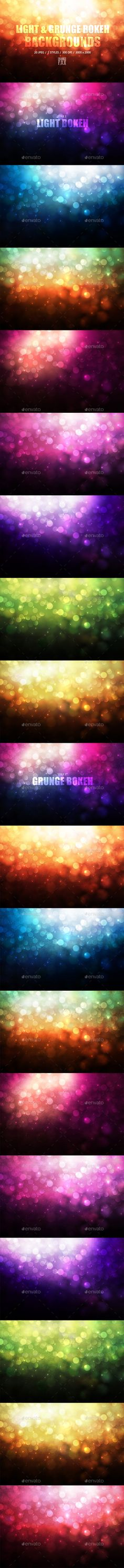 20 Grunge & Light Bokeh Backgrounds - Abstract Backgrounds