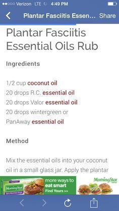 plantar fasciitis more essential oil young living living essential