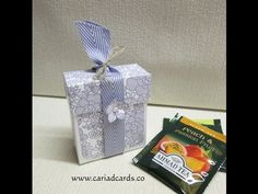 Stampin Up Something Lacy Tea Bag Holder Box - YouTube