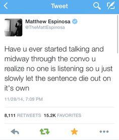 Yessss..!! I love matts tweets ❤️