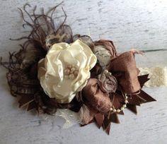 Couture Elegant Brown & Ivory Headband