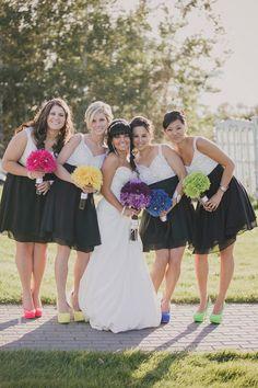 Punchy DIY Fall Neon Wedding by Caroline Ross Photography.
