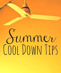Cool Down Tips