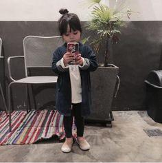 Cute Asian Babies, Korean Babies, Asian Kids, Cute Babies, Little Girl Fashion, Kids Fashion, Kids Girls, Baby Kids, Ulzzang Kids