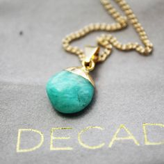 amazonite semi precious charm pendant by decadorn   notonthehighstreet.com