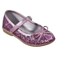 Target Mobile Site - Toddler Girl's Cherokee® Jaray Glitter Ballet Shoes - Pink