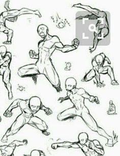 """#wattpad #de-todo Aquí podrás encontrar varios bocetos y guías para apoyarte en tus dibujos Mis demás libros los puedes encontrar en mi perfil o con la etiqueta de """"Inku"""" Action Pose Reference, Figure Drawing Reference, Drawing Reference Poses, Action Poses, Poses Anime, Manga Poses, Anatomy Sketches, Anatomy Art, Fighting Drawing"""