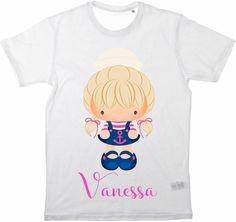 Kinder T-Shirt Namensshirt Sailor Girl von MilaLu auf DaWanda.com