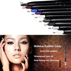Beauty Matte Makeup Waterproof Gel Eyeliner Pencil Pen Liner Eye Cosmetics Liner #HUAMIANLI