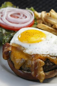 Famous Kuma's Burger at Kuma's Corner. I want to try all the food from the Chicago restaurants on this website!