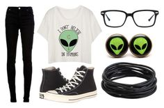 """Alien Week:Monday"" by doodlebob3 ❤ liked on Polyvore featuring dVb Victoria Beckham, Original Penguin and Converse"