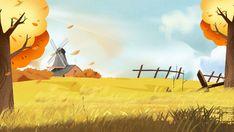 Piękny złoty jesieni banatki pola gospodarstwa rolnego tła projekt Cartoon Background, Paint Background, Background Images, Summer Backgrounds, Colorful Backgrounds, Farm Cartoon, Autumn Leaves Background, Plan Image, Wheat Fields