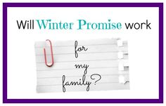 Will Winter Promise Work For Us?
