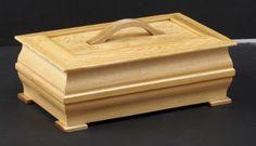 Curly maple and Douglas fir lidded keepsake box