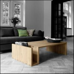 Ideas for a warm living room with the Naomi table by Ethnicraft / www.ethnicraft.com #ethnicraft