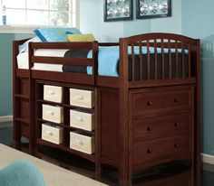 School House Junior Loft Bed with Storage | Wayfair