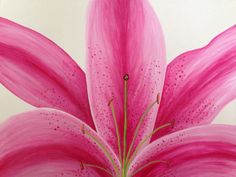 star gazer lily,lily painting,flower painting,pink painting,16x20, acrylic painting, floral painting,canvas art