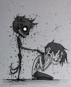 love lsd trippy psychedelic acid psychedelicart art loner trippyart bad weed love music sad psytrance psychedelics artist trip marijuana goodvibes alone drugs lsdtrip depression psycho mushrooms boy psychedelicart badvibesforever xxxtentation llj Scary Drawings, Dark Art Drawings, Creepy Sketches, Arte Horror, Horror Art, Dark Art Illustrations, Illustration Art, Arte Peculiar, Horror Drawing