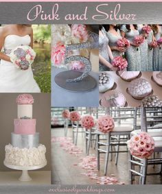 Pink and Silver Wedding | Your Wedding Color - Pair Pink With a Neutral For a Groom-Friendly Palette | Read more: http://blog.exclusivelyweddings.com/2014/08/18/your-wedding-colors-pink-with-a-neutral-combination/