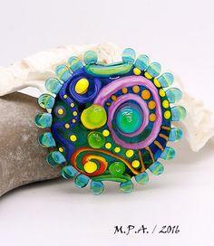 Modern Art Glass 1 focal bead by Michou P. by michoudesign
