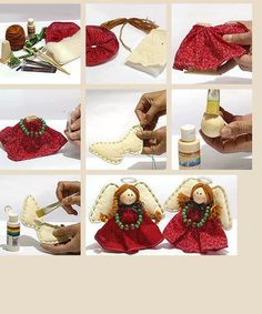 How to make an angel for Christmas Tree Christmas Makes, Felt Christmas, Homemade Christmas, Christmas Angels, Christmas And New Year, All Things Christmas, Christmas Holidays, Christmas Decorations, Christmas Ornaments