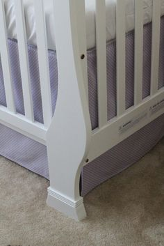 How to make a crib skirt--need one that is straight and doesn't bloom out...
