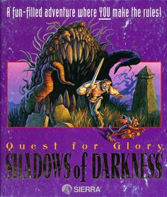 Quest for Glory: Shadows of Darkness DOS Front Cover 1993