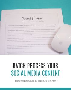 Tips for Batch Processing Your Social Media Content via Laurie Cosgrove