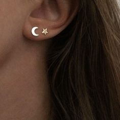 Star and Moon Stud E