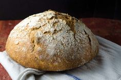 No-knead sourdough bread is a simple sourdough bread you can make at home with very little effort and still produce beautiful artisanal results.