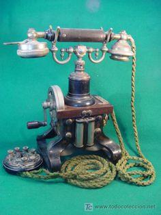 TELEFONO ANTIGUO DE MESA - ERICSSON -  DE LOS AÑOS  1895  =================   =============  VENDIDO  ============   =============  SOLD  ==============