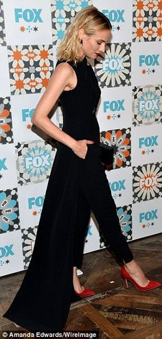 Diane Kruger in Marios Schwab jumpsuit, Charlotte Olympia clutch - At the Fox Summer TCA All-Star Party in West Hollywood.  (July 2014)