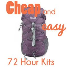 Parents don& have a lot of extra time and energy to put together 72 hour kits, here are some Cheap and Easy 72 Hour Kits! Camping Survival, Survival Prepping, Survival Skills, Survival Equipment, Outdoor Survival, Survival Stuff, Survival Shelter, Tornados, Just In Case