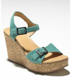 Signature Cork Wedge, Suede: Sandals | Free Shipping at L.L.Bean
