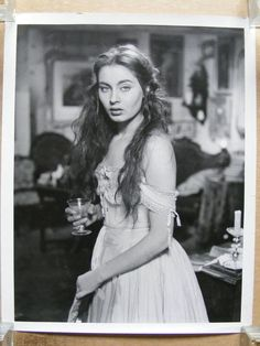 Alida Valli original busty bare shoulder portrait photo 1954 Senso - Visconti
