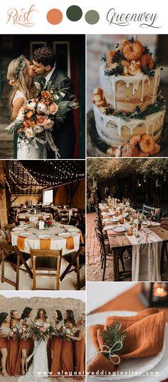 October Wedding Colors, Fall Wedding Colors, Wedding Color Schemes, October Wedding Dresses, Wedding Ideas For October, Autumn Wedding Themes, Color Themes For Wedding, Wedding Theme Ideas Unique, Retro Wedding Theme