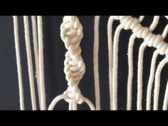 How to do macrame knots - HALF SQUARE KNOT SPIRAL - YouTube