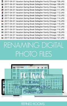 Join the Digital Photo Organizing Challenge! In Week we rename our digital photo files to make them searchable! Photography Lessons, Photography Tutorials, Digital Photography, Creative Photography, Inspiring Photography, Flash Photography, Scenic Photography, Photography Projects, Iphone Photography