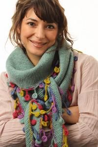 Scarf with crocheted edging
