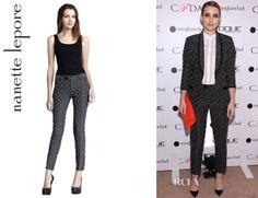 Emma Roberts' Nanette Lepore Pips Printed Pants