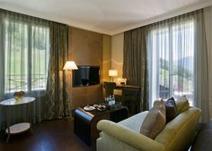 Hotel Villa Honegg in Bürgenstock Hotel Villa Honegg, Switzerland Hotels, Das Hotel, Curtains, Inspiration, Bedroom, Home Decor, Travel, Conference Room