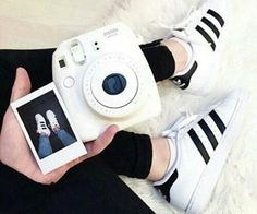 Fujifilm Instax Mini 8 Camera on We Heart It Polaroid Instax, Instax Mini Camera, Fujifilm Instax Mini 8, Polaroid Cameras, Adidas Shoes Women, Adidas Boots, Polaroid Pictures, Adidas Outfit, Adidas Shirt