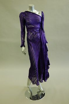Yves Saint Laurent Rive Gauche Purple Gown 1980