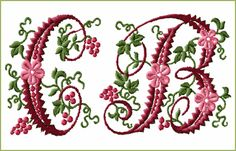 Free Machine Embroidery Alphabet Designs | Curly Berries Font machine embroidery designs