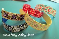Someday Crafts: Popsicle Stick Bracelets AND Ukrainian Eggs