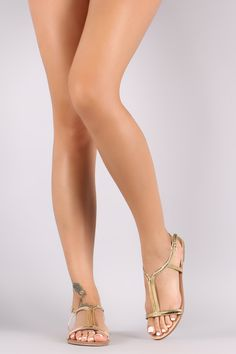 Qupid Patent Open Toe Ankle Strap Flat Sandal